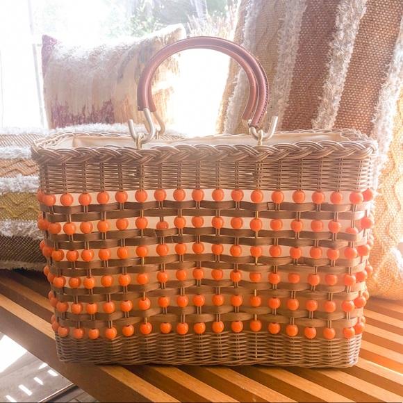 Vintage Handbags - 💎VINTAGE basket bag